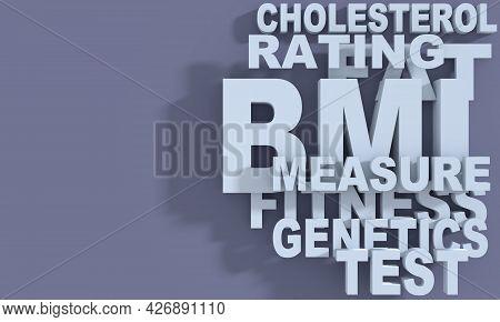 Body Mass Index Words Cloud. Medicine Concept