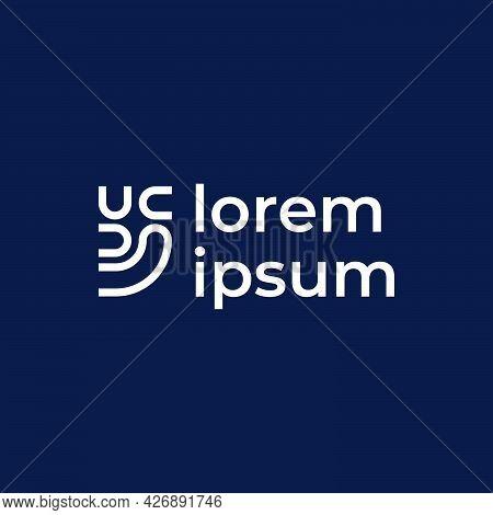 U C Line Abstract Logo Company Ready To Use. Logo Design Vector Template. Modern Logo Concept.