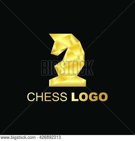 Golden Knight Horse Logo Company Ready To Use. Logo Design Vector Template. Modern Logo Concept.