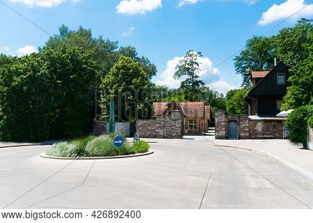 Lainzer Tiergarten In Vienna, Austria. Famous Tourist Attraction And Zoo In The Capital City Of Aust