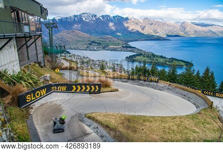 The Skyline Queenstown Luge Is One Of The Most Famous Activity On Queenstown Skyline, New Zealand. Q