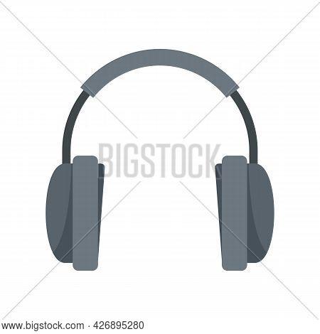 Wireless Headphones Icon. Flat Illustration Of Wireless Headphones Vector Icon Isolated On White Bac