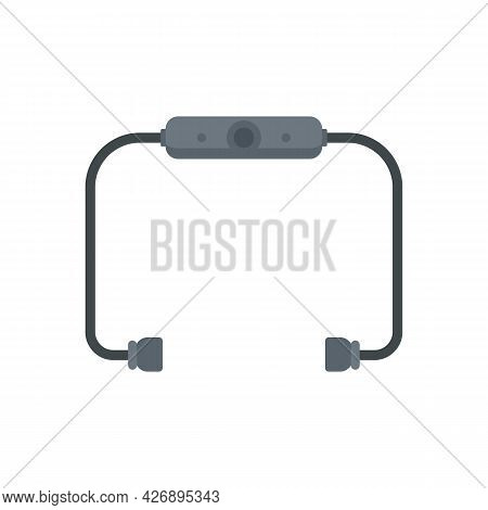 Bluetooth Earbuds Icon. Flat Illustration Of Bluetooth Earbuds Vector Icon Isolated On White Backgro