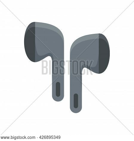 Wireless Earbuds Accessory Icon. Flat Illustration Of Wireless Earbuds Accessory Vector Icon Isolate