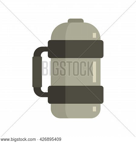 Vacuum Insulated Water Bottle Icon. Flat Illustration Of Vacuum Insulated Water Bottle Vector Icon I