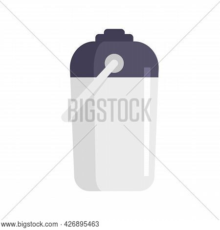 Thermo Bottle Icon. Flat Illustration Of Thermo Bottle Vector Icon Isolated On White Background