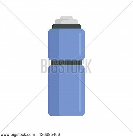 Camping Thermo Bottle Icon. Flat Illustration Of Camping Thermo Bottle Vector Icon Isolated On White