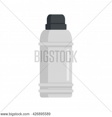 Insulated Flask Icon. Flat Illustration Of Insulated Flask Vector Icon Isolated On White Background