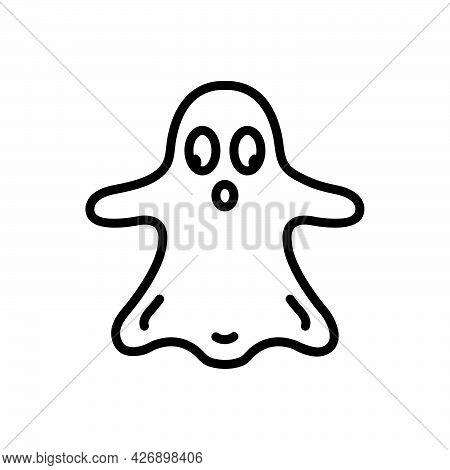 Black Line Icon For Thriller Filmmaking Horror Genre Halloween Vampire