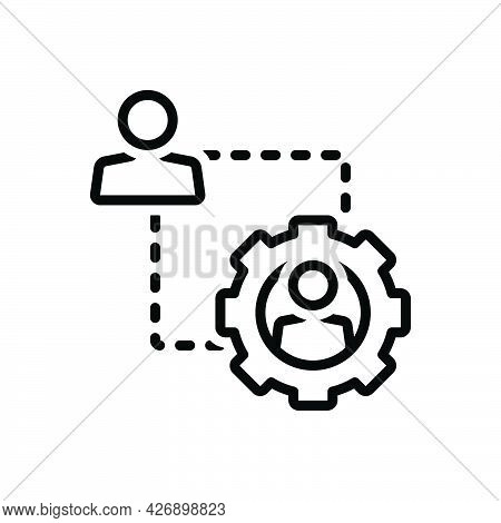 Black Line Icon For Demonstrate Demo Testimony Setting People
