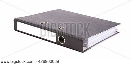 Black Archive Business Folder Isolated On White