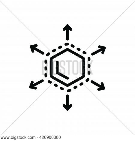 Black Line Icon For Expanding Increase-in-size Enlarge Size Fullscreen Bigger Application