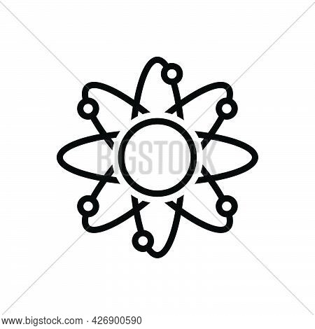 Black Line Icon For Core Basic Origin Atomic Chemical Concept Molecular Model