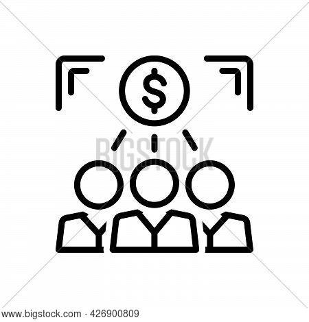 Black Line Icon For Investors Banker Lender Capitalist Businessman Depositor Rentier Investment