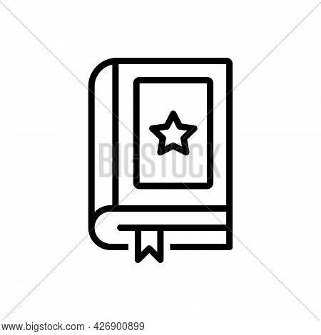 Black Line Icon For Novels Fiction Narrative Novella Story Tale Book