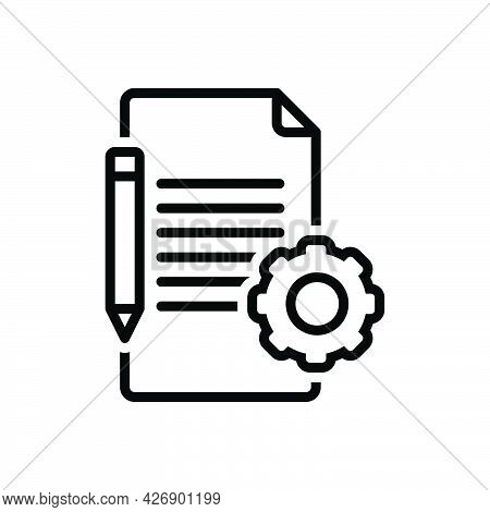 Black Line Icon For Prerequisite Condition Stipulation Term Checklist Assignment