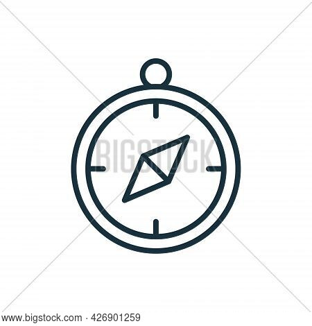 Compass Line Icon. Sign Of Direction And Navigation. Simple Flat Symbol. Editable Stroke. Vector Ill