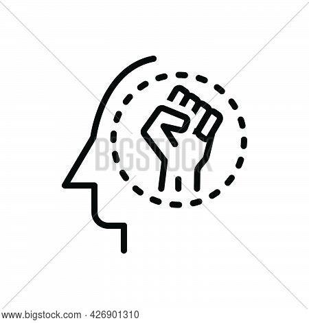 Black Line Icon For Be Happen Exist Criticism Dream Exist Live