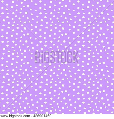 Background Polka Dot. Seamless Pattern. Random Dots, Circles, Animal Skin. Design For Fabric, Wallpa