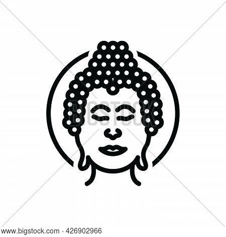 Black Line Icon For Buddha Meditate Buddhism Buddhist Buddha-purnima Jayanti Religion Enlightenment