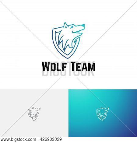 Wild Wolf Head Shield Game Esport Team Logo