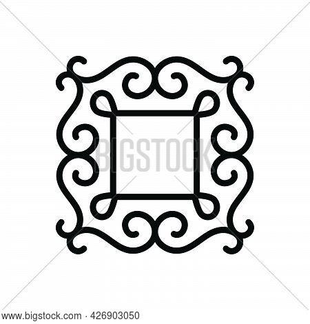 Black Line Icon For Fancy Imagination Border Vintage Classic Frame Mirror