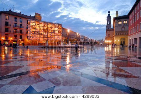 Pilar's Square In Saragossa