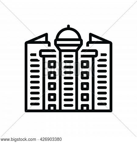 Black Line Icon For Vancouver Cityscape Place British-columbia Building Reside Live-in Inhabit