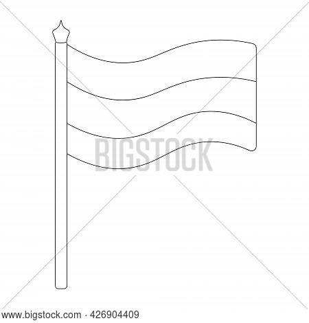 Flag Of Russia, Germany, Austria, Estonia, Latvia, Bulgaria And Others. Sketch. Vector Illustration.
