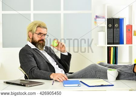 Brainstorming. Office Job. Business Manager Relaxing. Business Concept. If You Want To Succeed, You