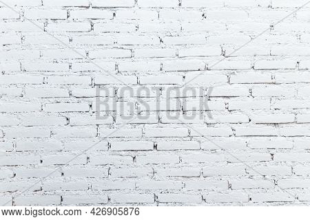 White Brick Wall Texture For Background Design