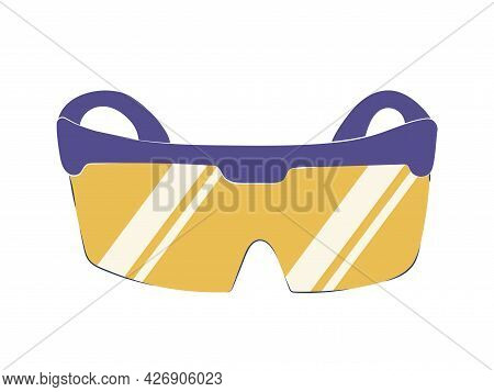 Protective Goggles From The Laser Isolated On A White Background. Glasses Icon, Vector Illustration