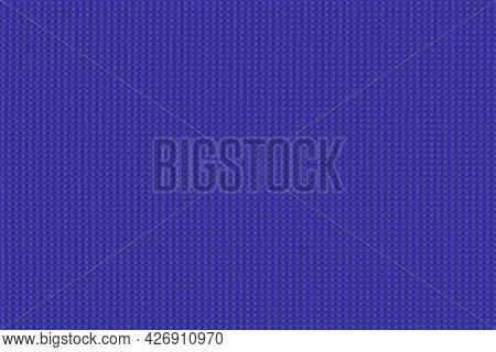 Texture With Ordered Blue Color Bulges. Background With Dots Of Governor Bay. Texture Polka And Some
