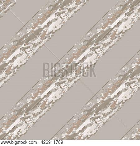 Modern Paint Crayon Diagonal Stripe Vector Seamless Pattern Background. Painterly Brush Stroke Style