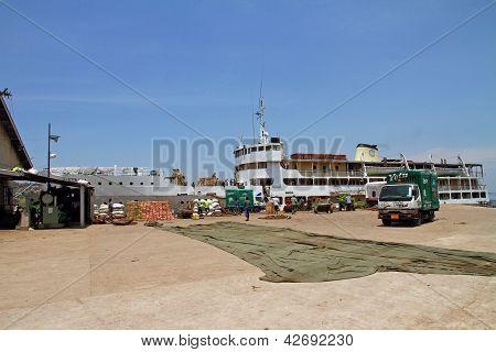 Mwanza Ferry Loading At Terminal