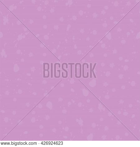 Purple Lavender Primitive Naive Hand Drawn Blots Seamless Pattern. Vector Doodle Endless Pattern For
