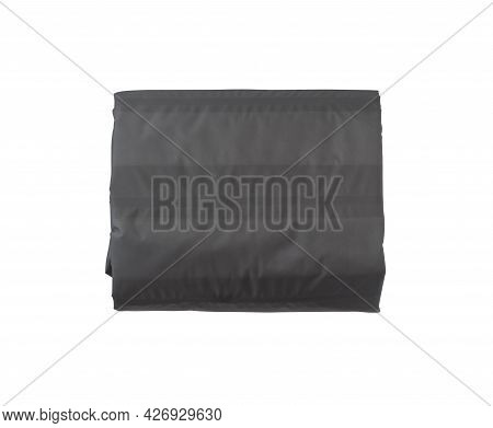 Rolled Up Self Inflating Sleeping Mat For Camping Isolated On White Background