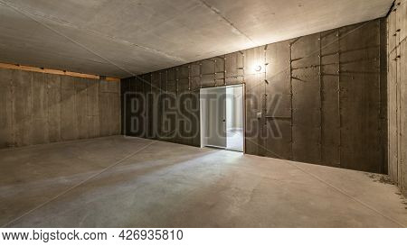Pano Interior Of An Under Construction Cold Storage At The Basement