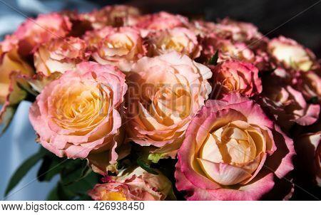 Bouquet Of Orange Roses