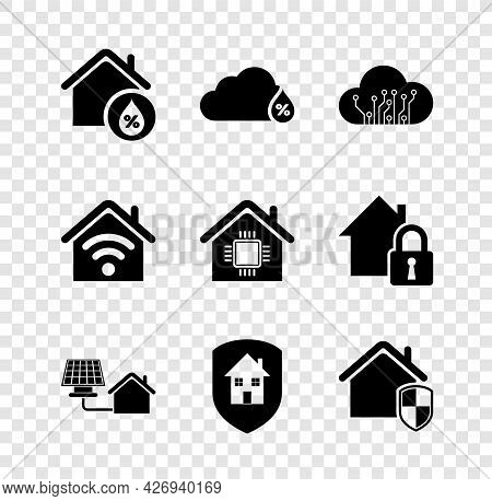 Set House Humidity, Humidity, Internet Of Things, With Solar Panel, Under Protection, Smart Home Wi-