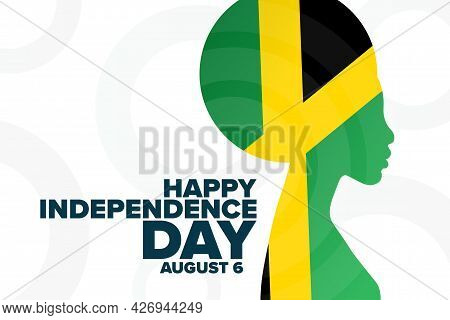 Jamaica. Happy Independence Day. August 6. Holiday Concept. Template For Background, Banner, Card, P