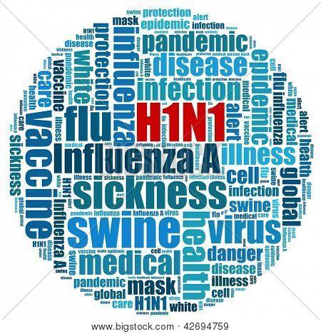H1N1 Pandemic in word collage
