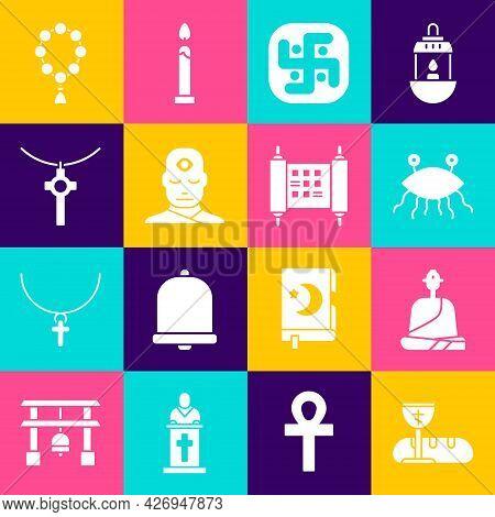 Set First Communion Symbols, Buddhist Monk, Pastafarianism, Jainism, Man With Third Eye, Christian C