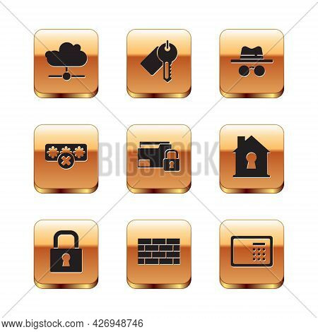 Set Network Cloud Connection, Lock, Firewall, Security Wall, Folder And Lock, Password Protection, I