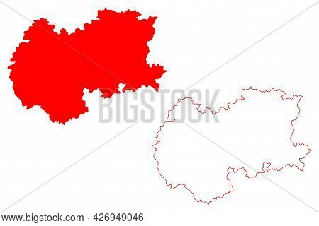 Hereford And Worcester County (united Kingdom, Non-metropolitan County Of England) Map Vector Illust