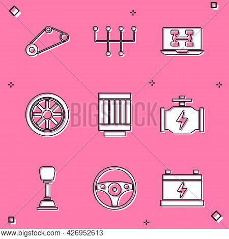 Set Timing Belt Kit, Gear Shifter, Diagnostics Condition Of Car, Car Wheel, Air Filter, Check Engine