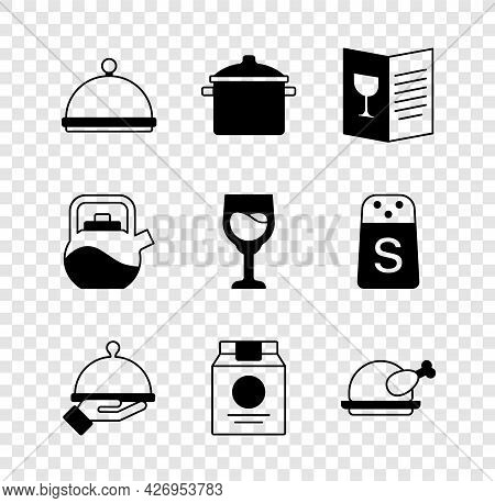 Set Covered With Tray, Cooking Pot, Restaurant Cafe Menu, Of Food, Online Ordering And Delivery, Roa