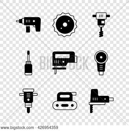 Set Electric Drill Machine, Circular Saw Blade, Electrical Hand Concrete Mixer, Construction Jackham