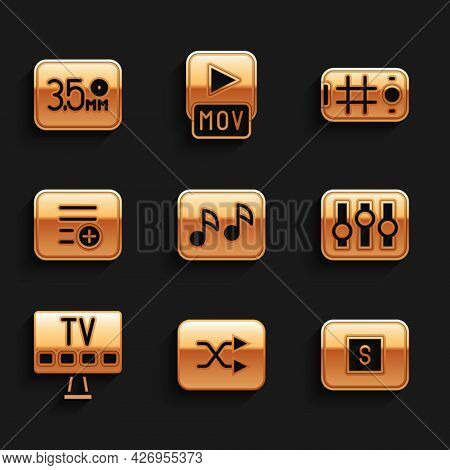 Set Music Note, Tone, Arrow Shuffle, Stop Media Button, Sound Mixer Controller, Smart Tv, Add Playli