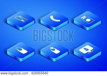 Set Manicure, Nail Cutter, Manicure, Broken Nail, File And Tube Of Hand Cream Icon. Vector